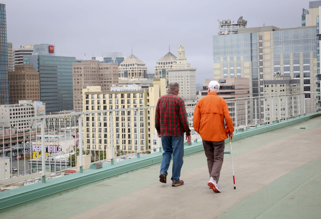 walking on the rooftop